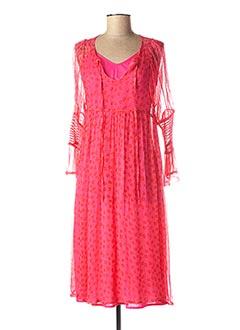 Robe mi-longue rose SCHOOL RAG pour femme
