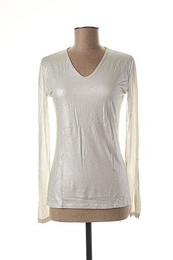 T-shirt manches longues blanc BLANC BOHEME pour femme