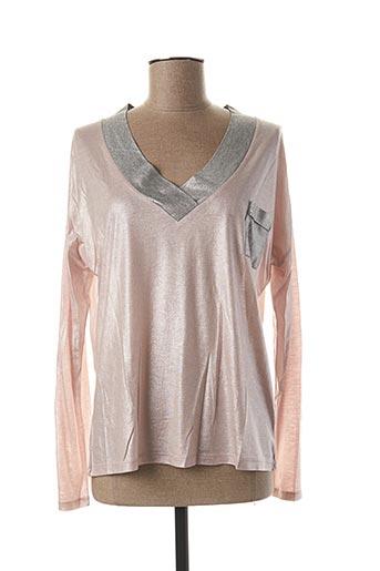 T-shirt manches longues rose BLANC BOHEME pour femme