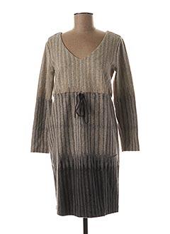 Robe courte beige BLANC BOHEME pour femme