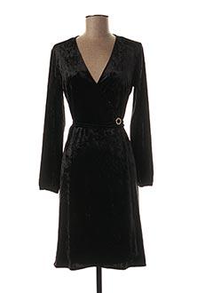Robe mi-longue noir BLANC BOHEME pour femme