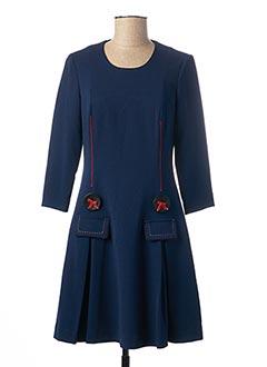 Robe mi-longue bleu POUPEE CHIC pour femme