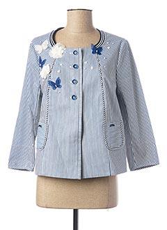 Veste casual bleu POUPEE CHIC pour femme
