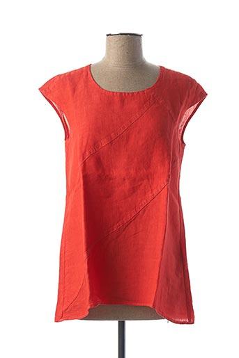 Tunique manches courtes rouge ELEMENTE CLEMENTE pour femme