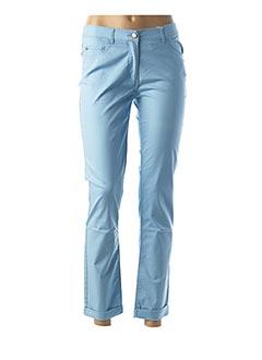 Pantalon casual bleu FLEUR DE SEL pour femme