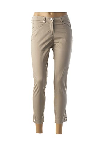 Pantalon 7/8 beige EAST DRIVE pour femme