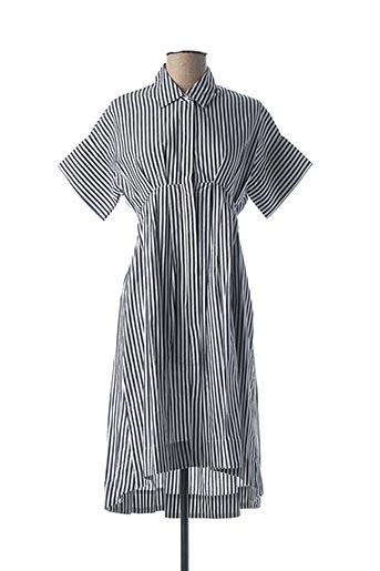Robe mi-longue gris CUBIC pour femme