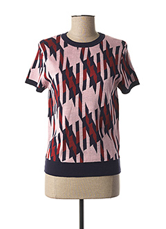 Pull col rond rose CUBIC pour femme