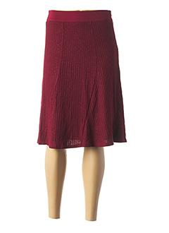 Jupe mi-longue rouge MULTIPLES pour femme