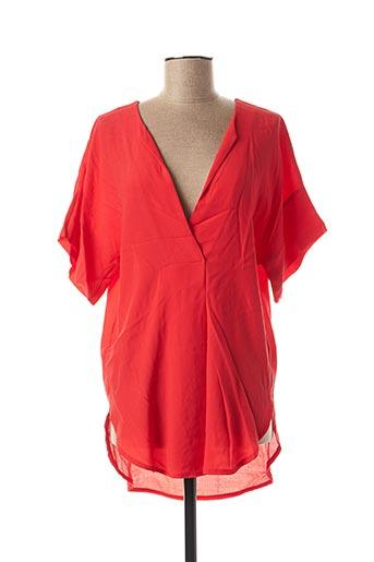 Tunique manches courtes rouge MULTIPLES pour femme