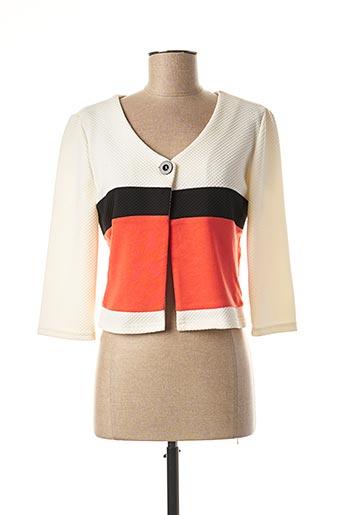 Veste casual orange MULTIPLES pour femme