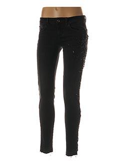 Jeans coupe slim noir LIU JO pour femme