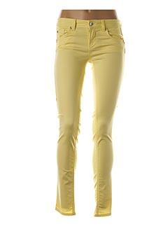 Pantalon casual jaune LIU JO pour femme