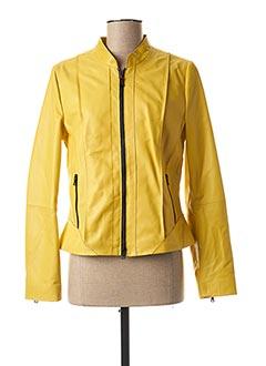 Veste en cuir jaune GERRY WEBER pour femme