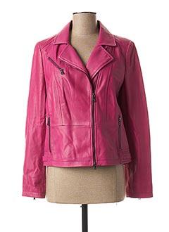Veste en cuir rose GERRY WEBER pour femme