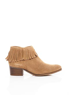 Bottines/Boots beige KARSTON pour femme