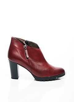 Bottines/Boots rouge B.D.A. pour femme