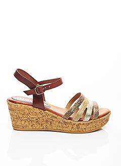 Sandales/Nu pieds marron BLU SANDAL pour femme