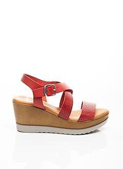 Sandales/Nu pieds rouge AMELIE BY MESS pour femme