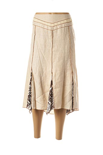 Jupe mi-longue beige ELLIOTT pour femme