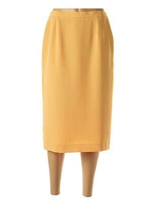 Jupe mi-longue jaune FRANCOISE DE FRANCE pour femme