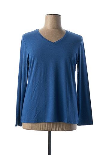 T-shirt manches longues bleu DOLCEZZA pour femme