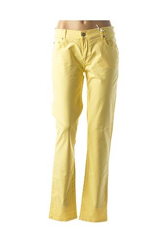 Pantalon casual jaune BISCOTE pour femme
