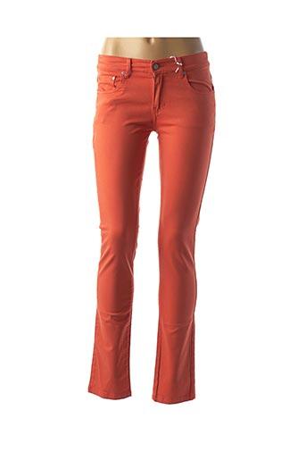 Pantalon casual orange BISCOTE pour femme