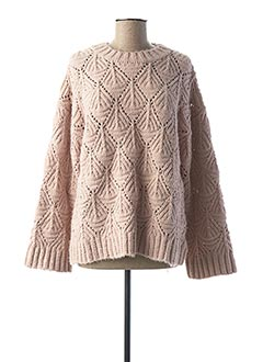 Pull col rond rose ODEMAI pour femme