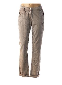 Pantalon casual marron CECIL pour femme