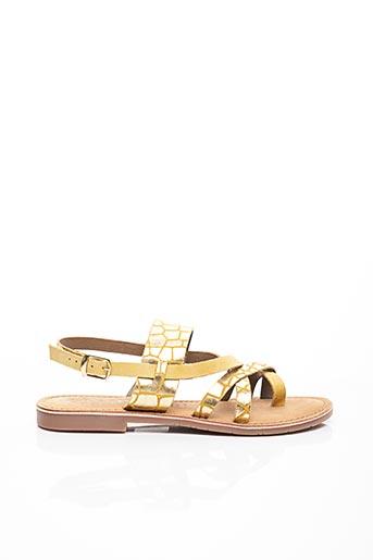 Sandales/Nu pieds jaune CASSIS COTE D'AZUR pour femme