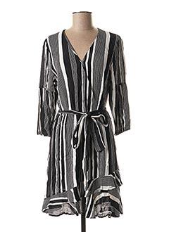 Robe mi-longue noir ESQUALO pour femme