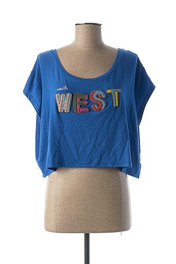 T-shirt manches courtes bleu AMENAPIH pour femme