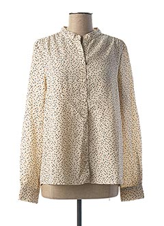Chemisier manches longues beige AWARE BY VERO MODA pour femme