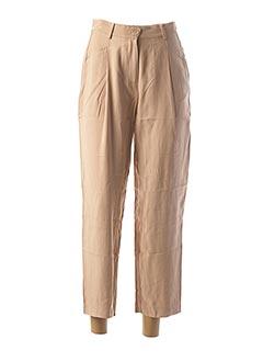 Pantalon 7/8 beige Y.A.S pour femme