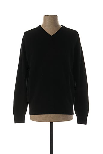 Pull col V noir STOZZI ADRIANO pour homme