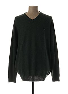 Pull col V vert FYNCH-HATTON pour homme