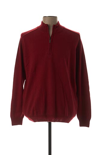 Pull col cheminée rouge STOZZI ADRIANO pour homme