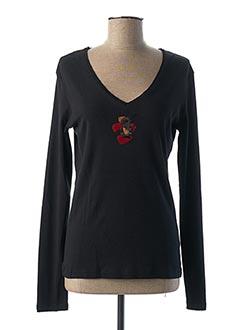 T-shirt manches longues noir DIPLODOCUS pour femme