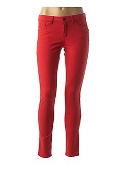 Pantalon casual rouge ONE STEP pour femme