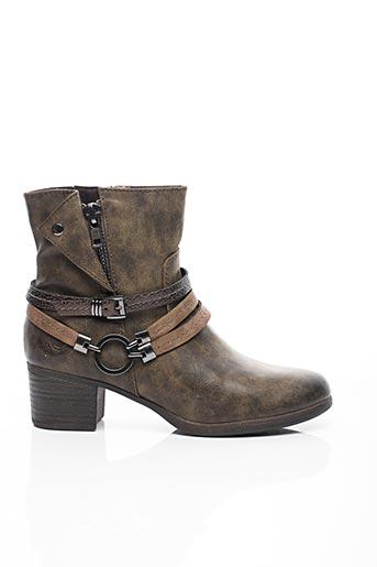 Bottines/Boots marron MARCO TOZZI pour femme