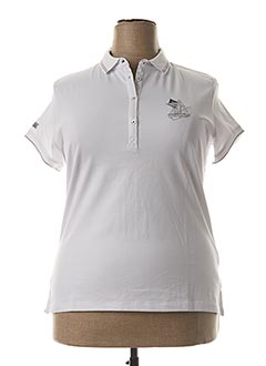 Polo manches courtes blanc BLACK WELLIS pour femme
