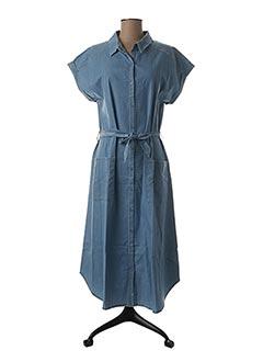 Robe longue bleu KANOPE pour femme