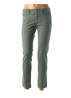 Jeans coupe slim vert KANOPE pour femme