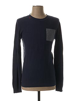 Pull col rond bleu LEE COOPER pour homme