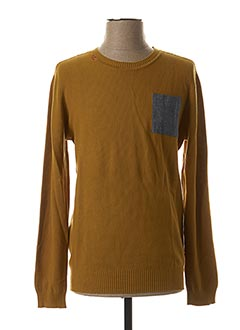 Pull col rond jaune LEE COOPER pour homme