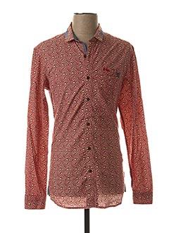 Chemise manches longues orange LEE COOPER pour homme