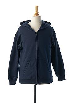 Veste casual bleu GILDAN pour garçon