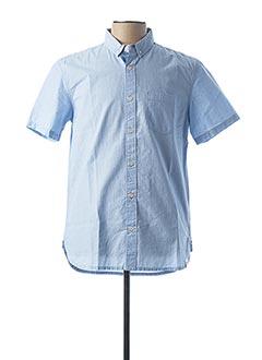 Chemise manches courtes bleu QUIKSILVER pour homme