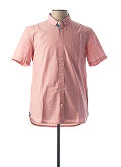 Chemise manches courtes rouge QUIKSILVER pour homme